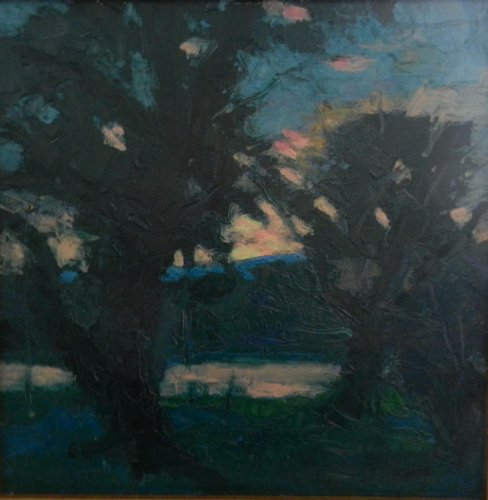 Along the Schuylkill 16x16 oil on canvas