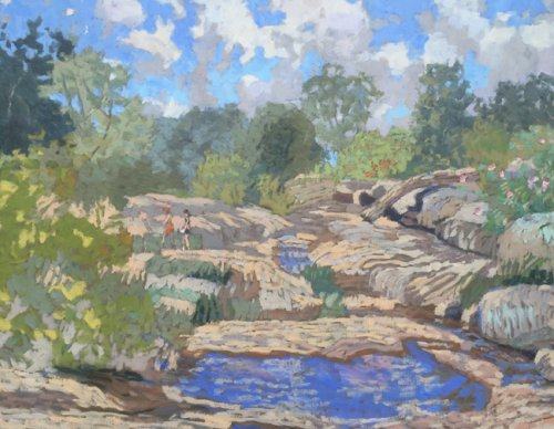 James River Day 2 24x30 oil on canvas