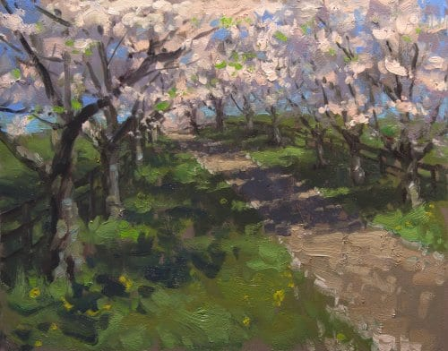 A Crisp Spring Day 16x20 oil on canvas