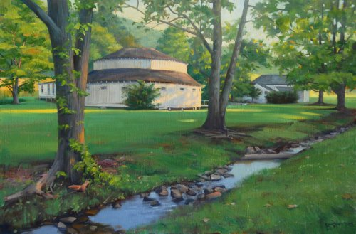 Warm Springs Morning 24x36 oil on linen