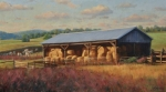 Hay Shed Light 18x24 oil on linen