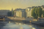 Saint Michel Morning 24x36 oil on linen