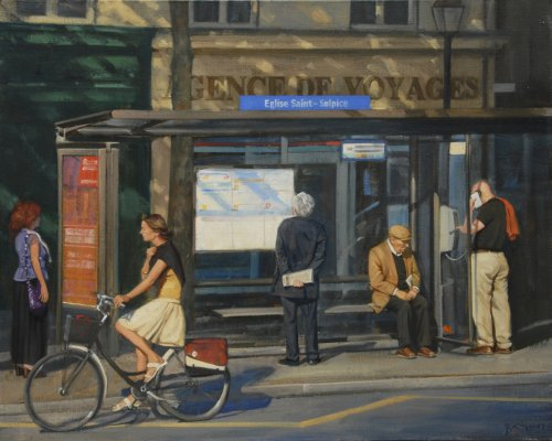 Waiting for the 63 24x30 oil on linen