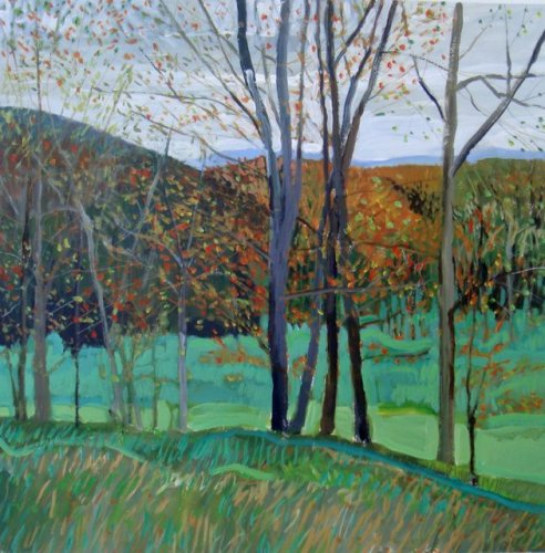 Late Autumn, Bath County 12x12 mixed media unframed