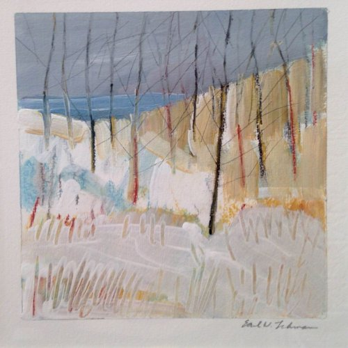 Lehman Birch Trees 4.5 acrylic on paper sold