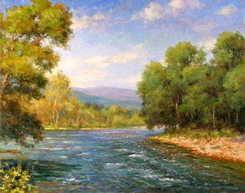 Greenbrier River 24x30 oil on canvas