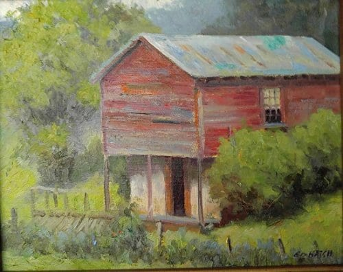 Spring House 8x10 oil on canvas