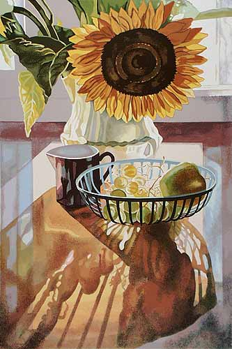 Goldman Sunflower. screenprint 41x28.5 ed. 64