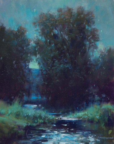 Summer Moonlight  10x8 oil on canvas