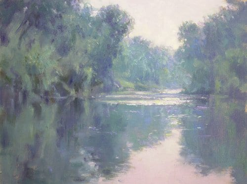 The Hoosic After Monet 12x16 oil on canvas