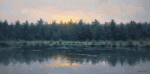 Dawn on the Pond 12x24 oil on canvas