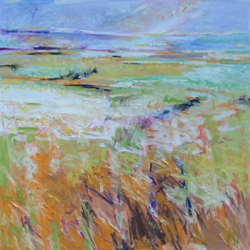 Blair Summer Grasses 43x43 oil on canvas