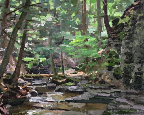 Conklin\'s Gully 24x30 oil on panel