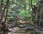 Conklin's Gully 24x30 oil on panel