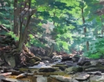 Summer in the Gulch 24x30 oil on panel