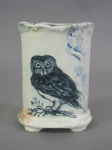 Small owl vase back 6 x 4 x 2.5 sold