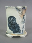 Small owl vase front 6 x 4 x 2.5 sold