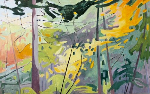 Calligraphy Tree 34x54 oil on canvas