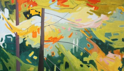 Line Poetry 34x58 oil on canvas