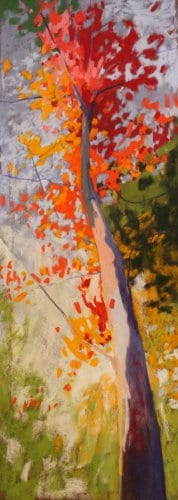 Reach pastel on paper 25x9
