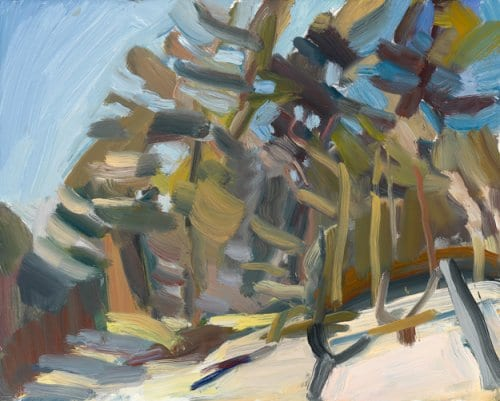 In Snow 8x10 oil on board
