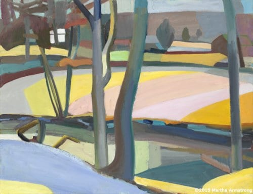 The Meander in Snow 26x28 oil on linen