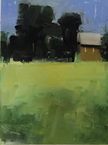 Old Brown Barn 18x24 oil on canvas