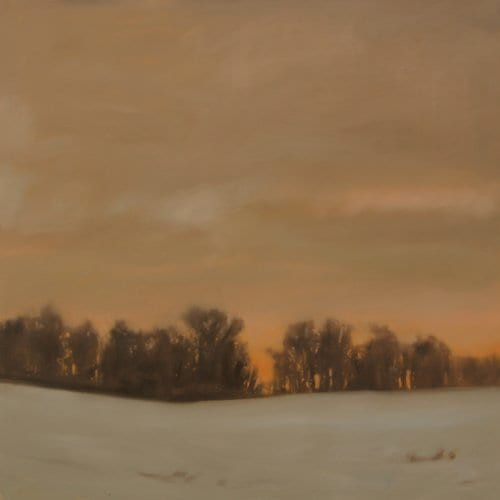 Sundown Snow 36x36 oil on panel