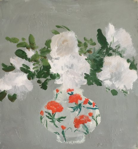 Parke-Carnation Vase-20x20-oil on canvas