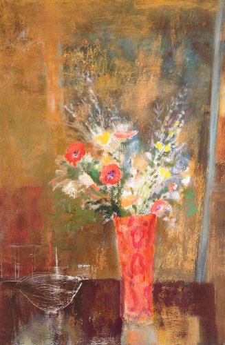 Parke-Red Foyer Vase 36x24 oil on canvas