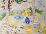 Yellow Table for Cheryl 30x40 oil on canvas sold
