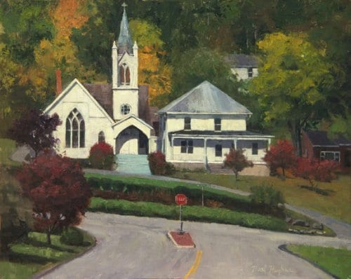 Hot Spring Steeple 16x20 oil on canvas