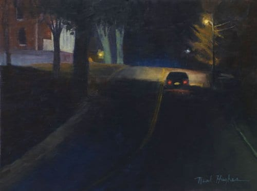 Into the Night 12x16 oil on canvas sold