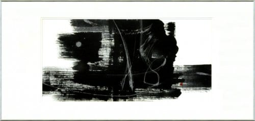 Play Like a Child 18 x 39 sumi on washi