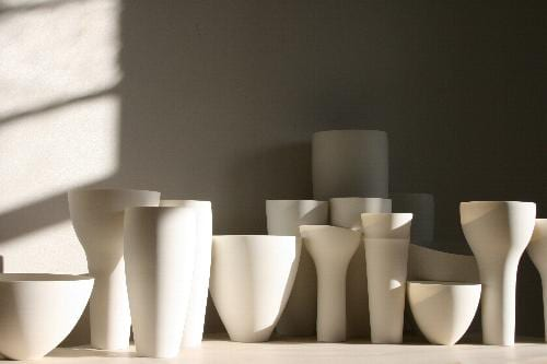 The Place de Catalunya series, southern ice porcelain, 15 pieces