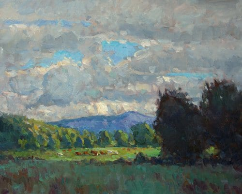 Distant Mountains 24x30 oil on canvas