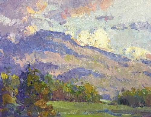First Light Foothills 11x14 oil on canvas