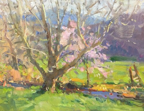 Spring Has Sprug 14x18 oil on canvas