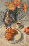 Coffee and Pastries 30x20 oil on canvas