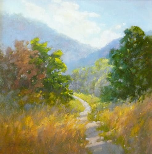Highlands Trail 12x12 oil on canvas