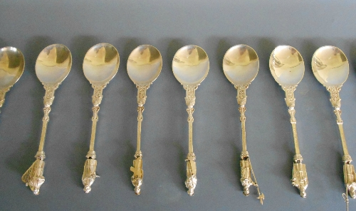 Sterling Apostle Spoons set of 12