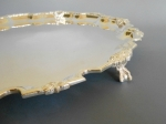 Chippendale sterling footed tray detail