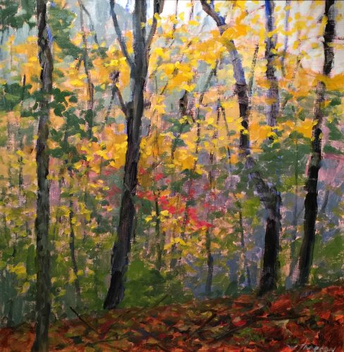 Jameson Autumn Ridge 12x12 oil on panel