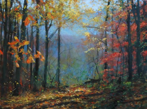 Woodland Light 30x40 oil on linen