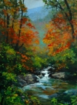 Fall on the Jackson River, 24x18, oil on linen