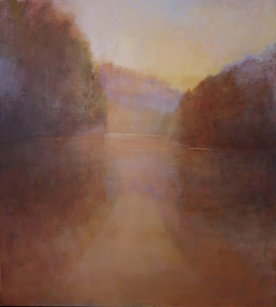 Loriann Signori, talking-with-silence, 54x40, oil on board